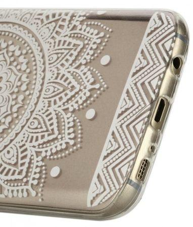 Samsung Galaxy S7 Indian Mandala Gummi TPU Silikon Case TRANSPARENT – Bild 3