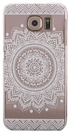 Samsung Galaxy S6 Edge Plus Indian Mandala Gummi TPU Silikon Case TRANSPARENT – Bild 2