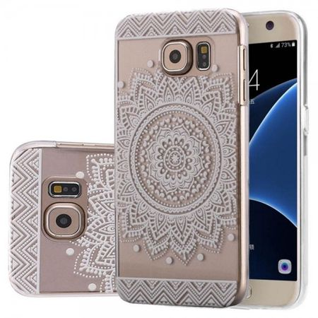 Samsung Galaxy S6 Edge Plus Indian Mandala Gummi TPU Silikon Case TRANSPARENT – Bild 1