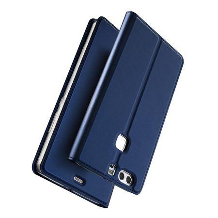 Huawei Mate 10 Lite DUX DUCIS Etui Leder Case Hülle mit Kartenfach BLAU – Bild 2