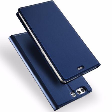 Huawei Mate 10 Lite DUX DUCIS Etui Leder Case Hülle mit Kartenfach BLAU – Bild 1