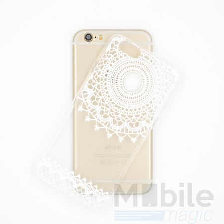 iPhone 6S Plus / 6 Plus Henna Mandala Gummi TPU Silikon Case TRANSPARENT – Bild 3
