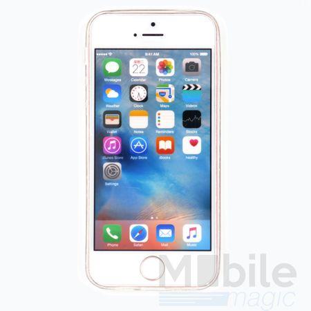 iPhone SE / 5S / 5 Henna Mandala Gummi TPU Silikon Case TRANSPARENT – Bild 2
