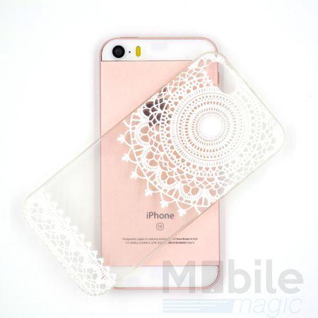 iPhone 4S / 4 Henna Mandala Gummi TPU Silikon Case TRANSPARENT – Bild 3