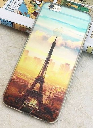 iPhone 6S / 6 Eiffelturm Paris Gummi TPU Silikon Case TRANSPARENT – Bild 3