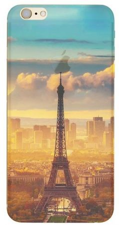 iPhone 6S Plus / 6 Plus Eiffelturm Paris Gummi TPU Silikon Case TRANSPARENT – Bild 1