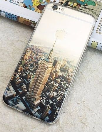 iPhone 6S Plus / 6 Plus New York City NYC Gummi TPU Silikon Case TRANSPARENT – Bild 3