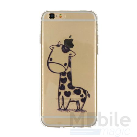 iPhone 6S / 6 Giraffe Gummi TPU Silikon Case Clear TRANSPARENT – Bild 1