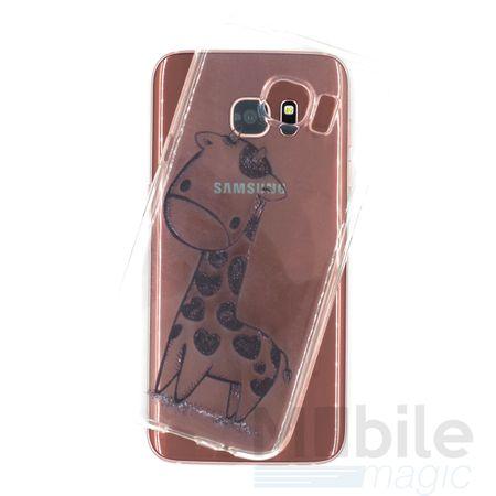 Samsung Galaxy S7 Edge Giraffe Gummi TPU Silikon Case Clear TRANSPARENT – Bild 3