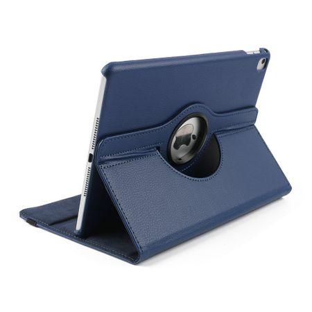 iPad Mini 1 / 2 / 3 Leder Case 360° Etui BLAU – Bild 4