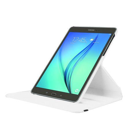 Samsung Galaxy Tab A 2016 7.0 Leder Case 360° Etui WEISS – Bild 3