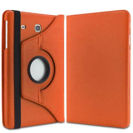 "Samsung Galaxy Tab S2 9.7"" Leder Case 360° Etui ORANGE – Bild 5"