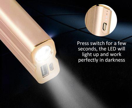 HOCO 5000mAh USB Powerbank Alu Externer Zusatz-Akku Batterie 2.1A Ladegerät GOLD – Bild 4