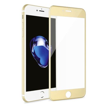 iPhone 8 Plus RANDLOS Panzerglas Glas Schutzfolie Schutzglas Curved Tempered Glass GOLD – Bild 1