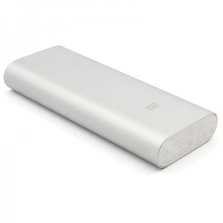 Xiaomi Mi 16000mAh DUAL USB Powerbank Alu Mi Externer Zusatz-Akku Batterie Power Bank 3.6A Ladegerät SILBER – Bild 6