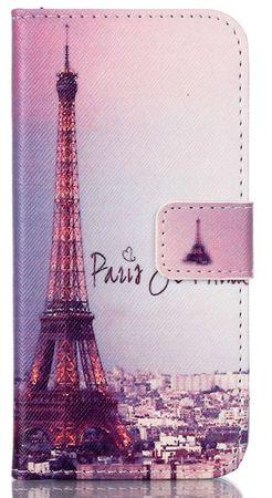 iPhone 8 Plus Eiffelturm Paris Leder Etui Case Tasche Hülle Case PINK / VIOLETT – Bild 1