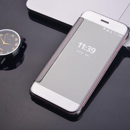 iPhone 8 Plus Clear Window View Case Cover Spiegel Mirror Hülle SILBER – Bild 4