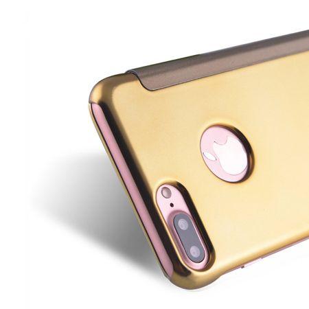 iPhone 8 Plus Clear Window View Case Cover Spiegel Mirror Hülle GOLD – Bild 5