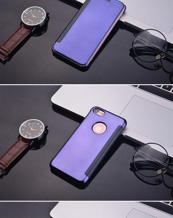 iPhone 8 Plus Clear Window View Case Cover Spiegel Mirror Hülle BLAU – Bild 4
