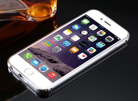 iPhone 8 Plus Alu-Bumper Mirror mit Spiegel-Rücken Metall Bumper Case Hülle Aluminium SILBER – Bild 3
