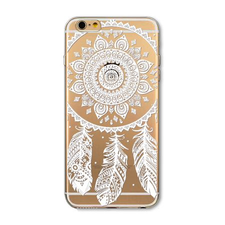 iPhone 8 Plus Traumfänger Dreamcatcher Gummi TPU Silikon Case Hülle WEISS – Bild 1