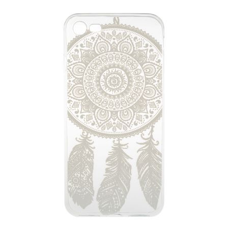 iPhone 8 Plus Traumfänger Dreamcatcher Gummi TPU Silikon Case Hülle WEISS – Bild 3