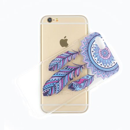 iPhone 8 Plus Traumfänger Dreamcatcher Gummi TPU Silikon Case Hülle BLAU – Bild 3