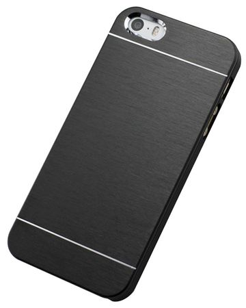 iPhone 8 Plus Aluminium Metall Brushed Hard Case Cover Hülle SCHWARZ – Bild 2