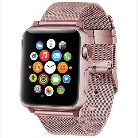 Apple Watch 42mm Series 1 / 2 / 3 ANKI Milanaise Edelstahl Armband PINK / ROSÉGOLD – Bild 2