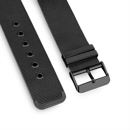 Apple Watch 38mm Series 1 / 2 / 3 ANKI Milanaise Edelstahl Armband SCHWARZ – Bild 3