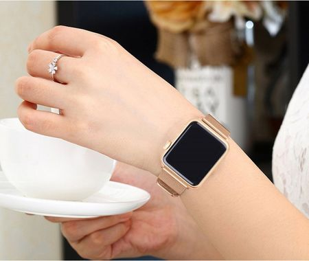 Apple Watch 38mm Series 1 / 2 / 3 ANKI Milanaise Edelstahl Armband GOLD – Bild 4