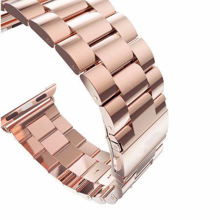 Apple Watch 42mm ANKI Luxus Edelstahl Armband Band ROSÉGOLD – Bild 3