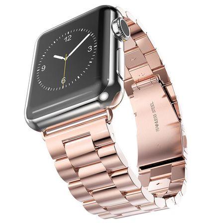 Apple Watch 42mm ANKI Luxus Edelstahl Armband Band ROSÉGOLD – Bild 1
