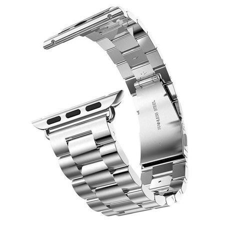 Apple Watch 38mm ANKI Luxus Edelstahl Armband Band SILBER – Bild 2