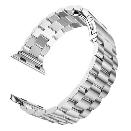 Apple Watch 38mm ANKI Luxus Edelstahl Armband Band SILBER – Bild 3
