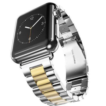Apple Watch 38mm ANKI Luxus Edelstahl Armband Band SILBER / GOLD – Bild 1