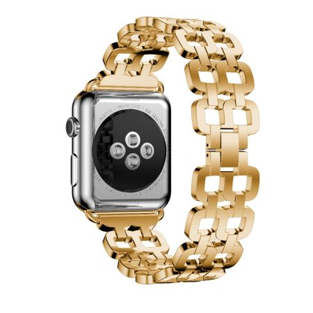 Apple Watch 42mm Luxus Edelstahl Ring Armband Metall GOLD – Bild 2