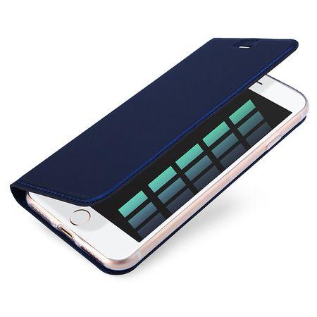 iPhone 7 DUX DUCIS Etui Leder Case Hülle mit Kartenfach BLAU – Bild 2