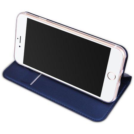 iPhone 7 DUX DUCIS Etui Leder Case Hülle mit Kartenfach BLAU – Bild 4