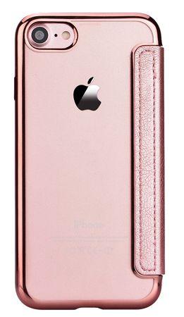 iPhone 7 Plus Leder Etui Hülle Flip Case ROSÉGOLD / PINK – Bild 5