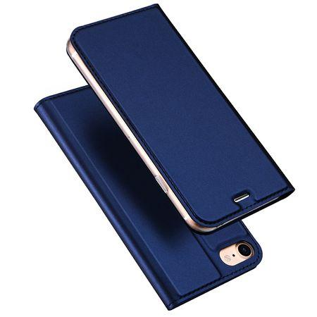 iPhone 7 Plus DUX DUCIS Etui Leder Case Hülle mit Kartenfach BLAU – Bild 1