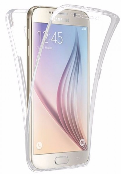 Samsung Galaxy S7 Rundum Schutz 360 Gummi Tpu Silikon Hulle Transparent