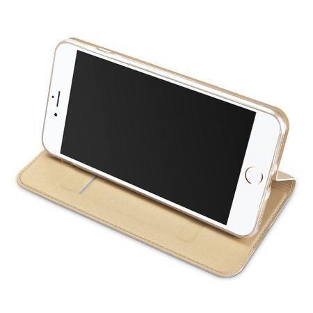 iPhone 6S / 6 Flip Leder Etui Tasche Hülle GOLD – Bild 3