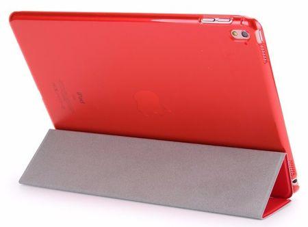 "iPad Pro 12.9"" ""  FullBody Leder Smart Etui Tasche Vorne + Hinten ROT – Bild 2"