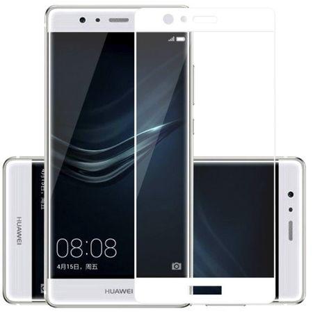 Huawei P9 Plus Randlos PANZERGLAS Abgerundetes Tempered Glass Glas Schutzfolie WEISS – Bild 1
