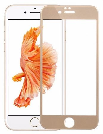 iPhone 6S / 6 Randlos PANZERGLAS Abgerundetes Tempered Glass Glas Schutzfolie GOLD – Bild 2