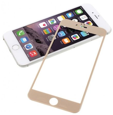 iPhone 6S / 6 Randlos PANZERGLAS Abgerundetes Tempered Glass Glas Schutzfolie GOLD – Bild 3