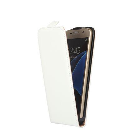 Samsung Galaxy A8 (2018) Leder Flip Case Cover Etui Tasche Vertikal Hülle WEISS – Bild 2