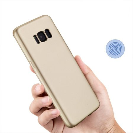 Samsung Galaxy A8 (2018) Komplett Schutz Case + Panzerglas Full Protection Cover Hülle GOLD – Bild 5