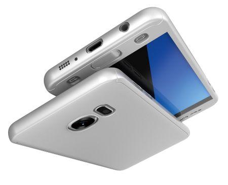 Samsung Galaxy A8 (2018) Komplett Schutz Case + Panzerglas Full Protection Cover Hülle SILBER – Bild 3